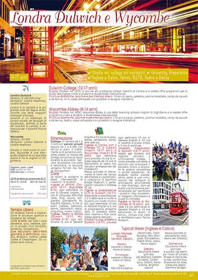 Preparazione scolastica - Londra Dulwich e Wycombe 2020